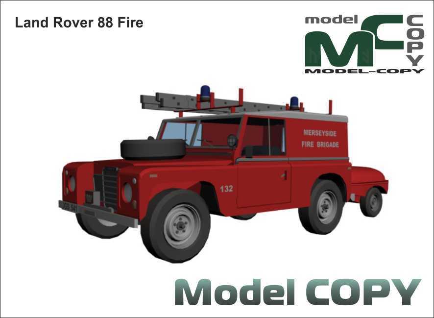 Land Rover 88 Fire - 3D Model