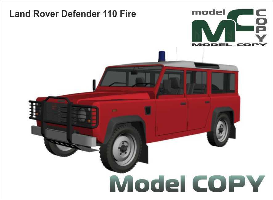 Land Rover Defender 110 Fire - 3D Model