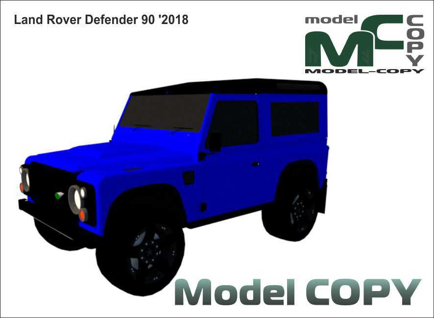 Land Rover Defender 90 '2018 - 3Dモデル