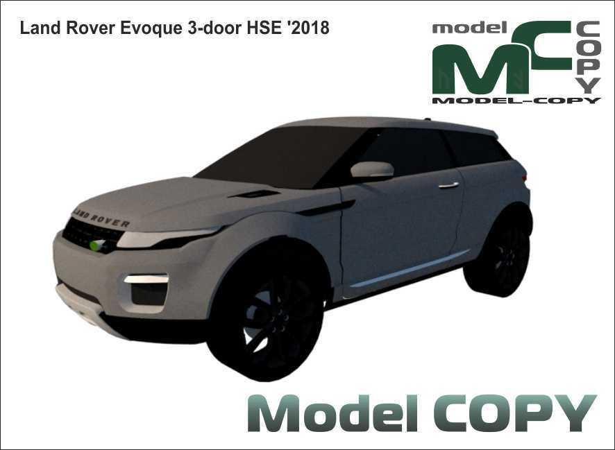 Land Rover Evoque 3-door HSE '2018 - 3D-модель