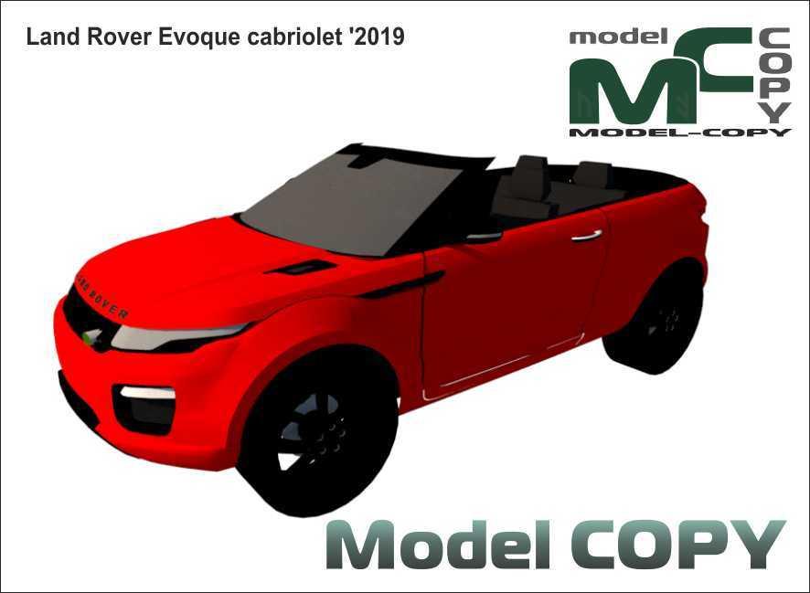 Land Rover Evoque cabriolet '2019 - 3D Model