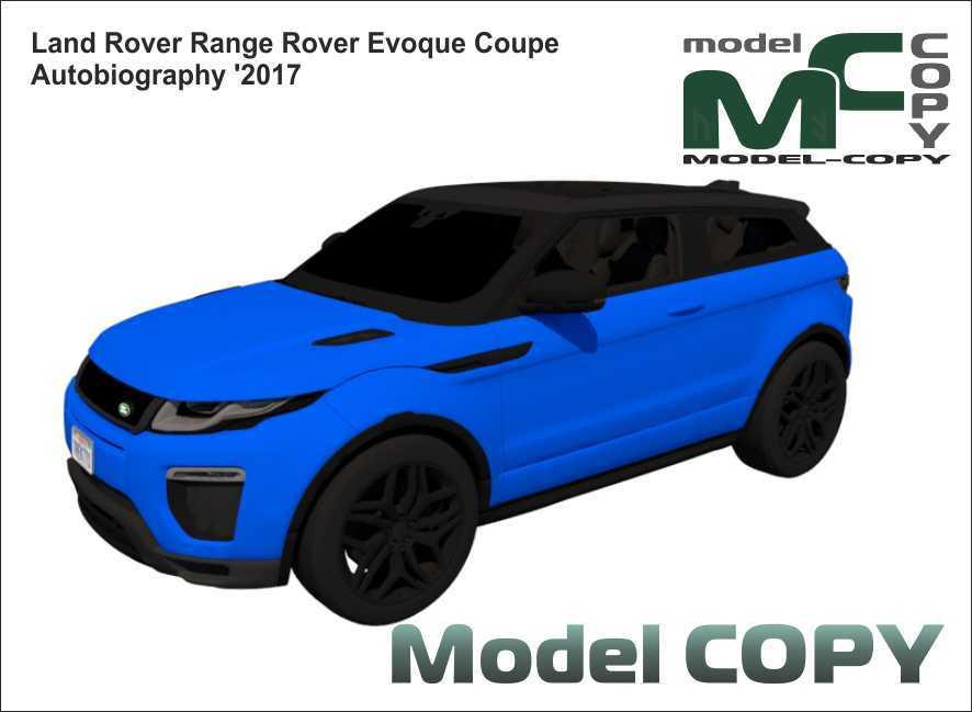 Land Rover Range Rover Evoque Coupe Autobiography '2017 - 3D-модель