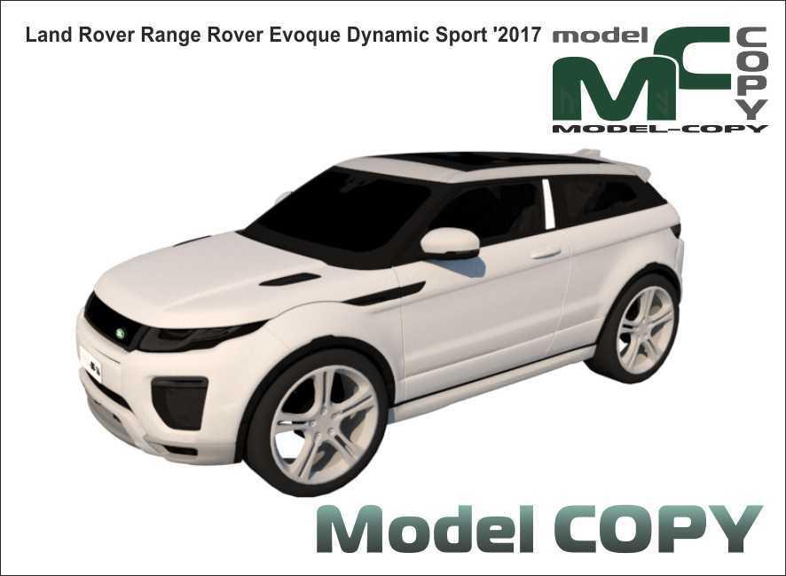 Land Rover Range Rover Evoque Dynamic Sport '2017 - 3D ಮಾದರಿ
