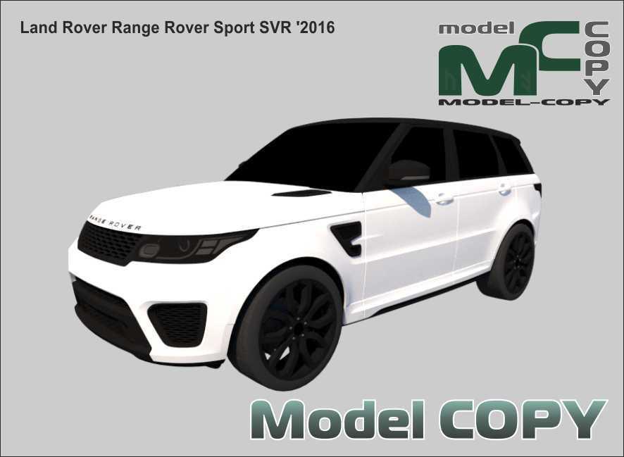 Land Rover Range Rover Sport SVR '2016 - 3Dモデル