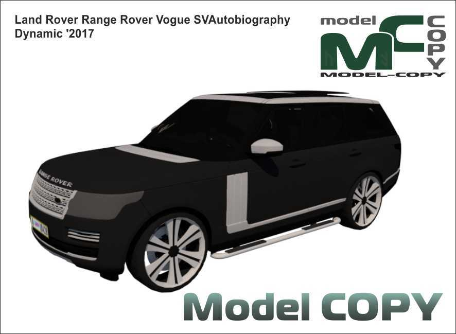 Land Rover Range Rover Vogue SVAutobiography Dynamic '2017 - 3Dモデル