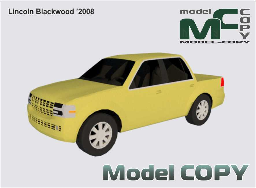 Lincoln Blackwood '2008 - 3D Model