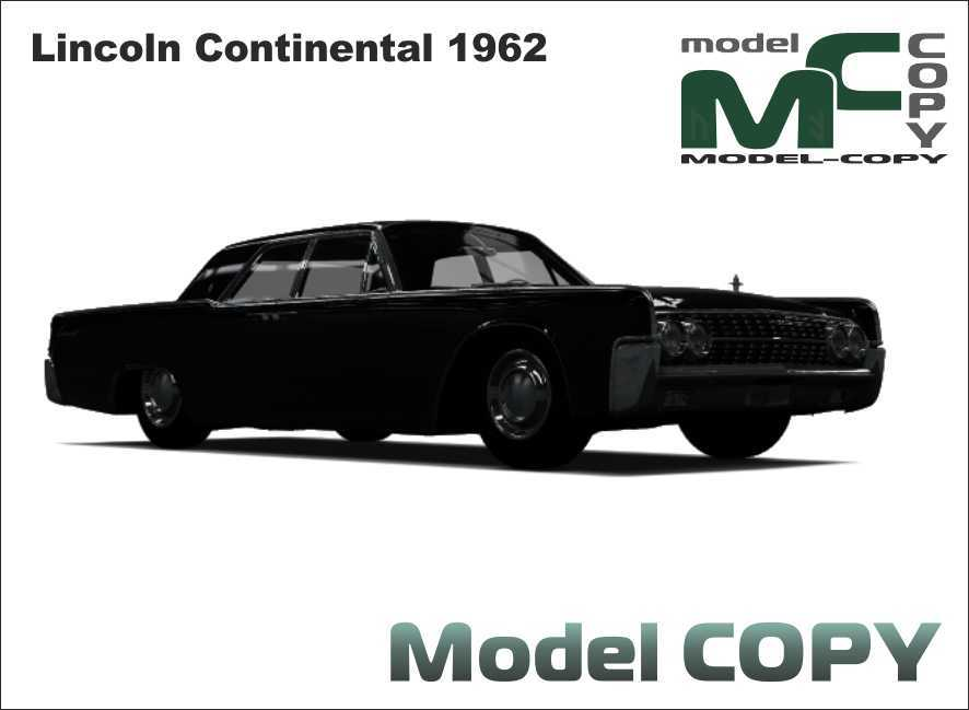 Lincoln Continental 1962 - 3D Model