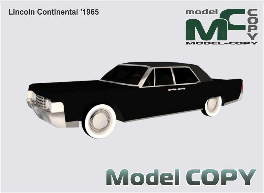 Lincoln Continental '1965 - 3D Model