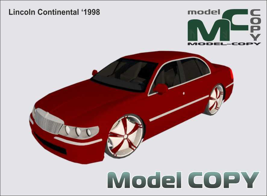 Lincoln Continental '1998 - 3D Model