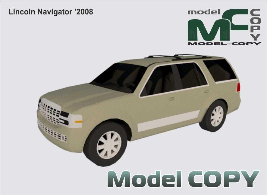 Lincoln Navigator '2008 - 3D Model