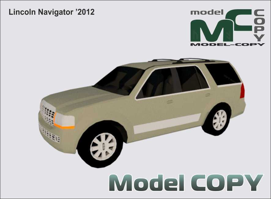 Lincoln Navigator '2012 - 3D Model