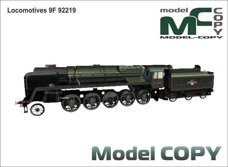 Locomotives 9F 92219 - 3D Model