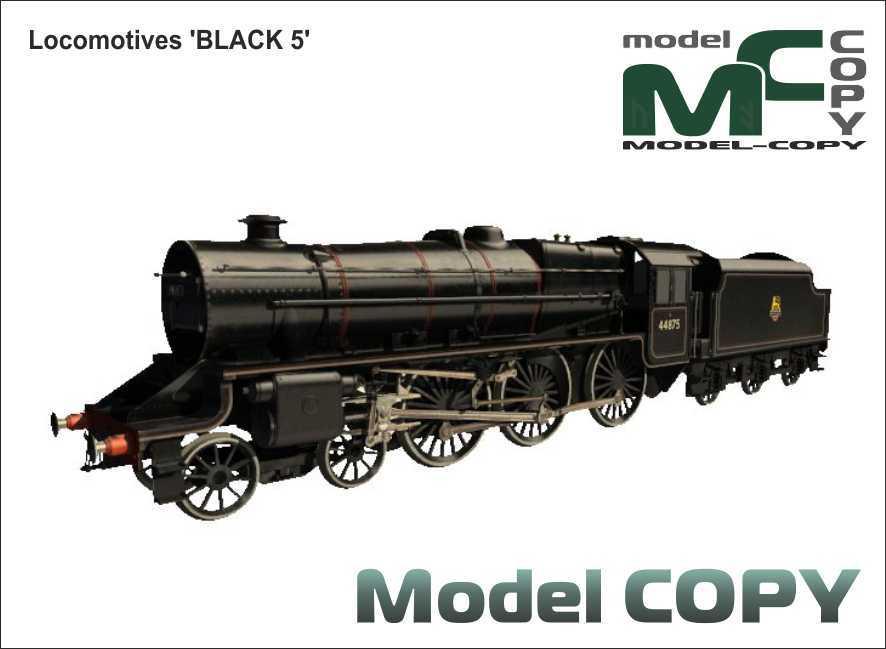 Locomotives 'BLACK 5' - 3D Model