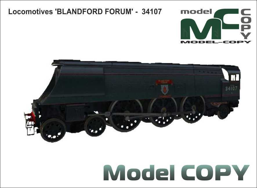 Locomotives 'BLANDFORD FORUM' - 34107 - 3D Model