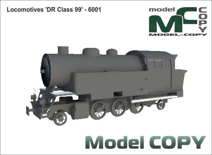Locomotives 'DR Class 99' - 6001 - 3D Model