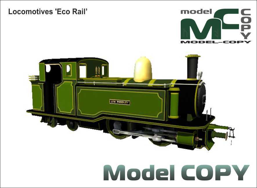 Locomotives 'Eco Rail' - 3D Model