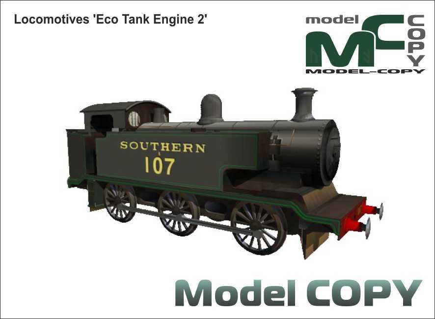 Locomotives 'Eco Tank Engine 2' - 3D Model