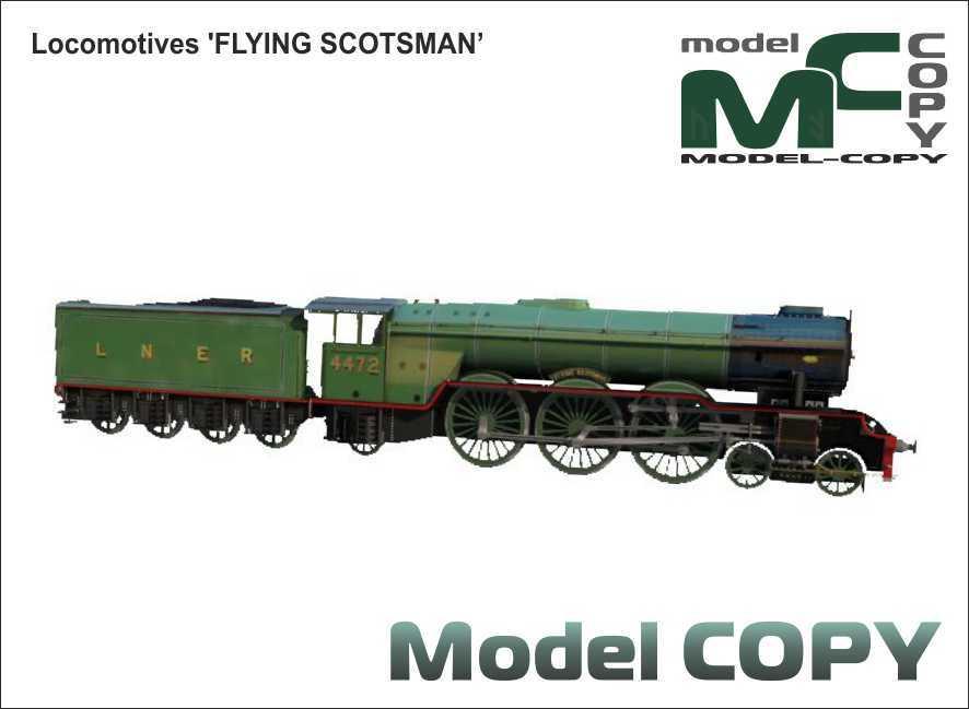 Locomotives 'FLYING SCOTSMAN' - 3D Model