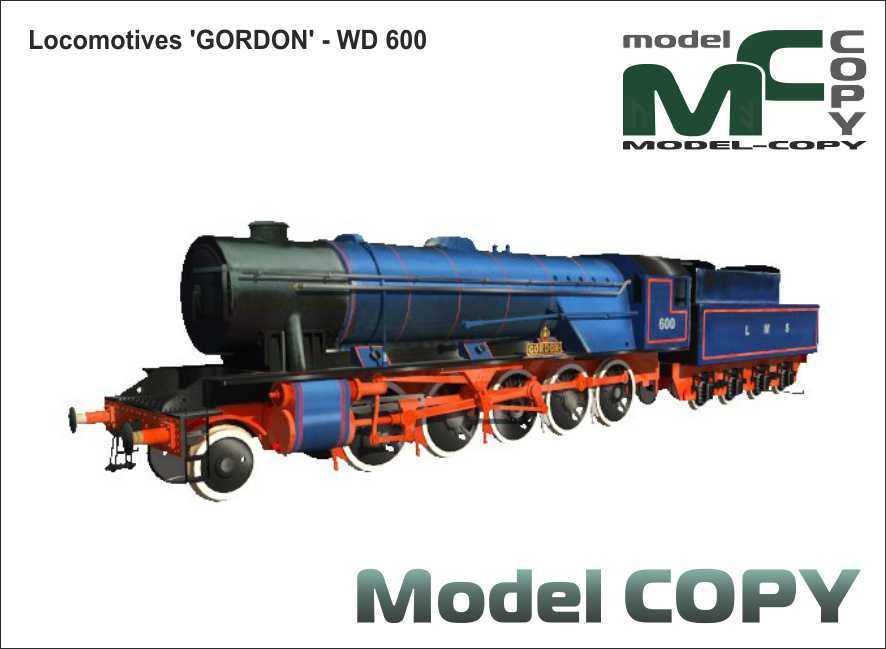 Locomotives 'GORDON' - WD 600 - 3D Model