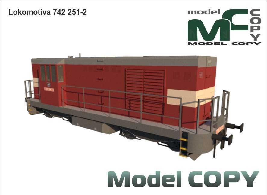 Lokomotiva 742 251-2 - 3D Model