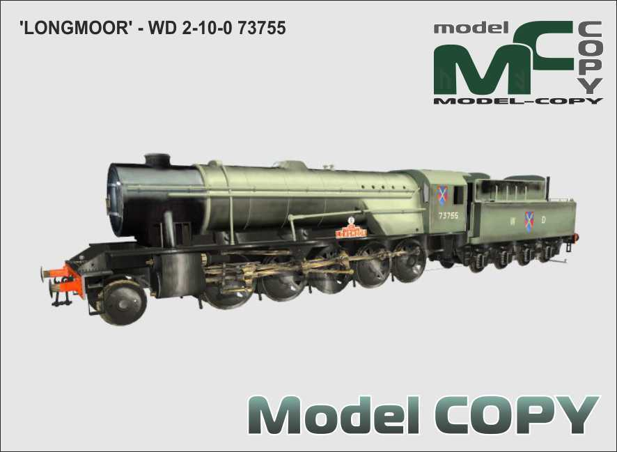 WD 2-10-0 LONGMOOR - 73755 - 3D Model
