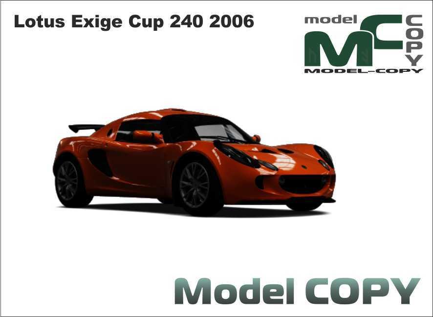 Lotus Exige Cup 240 2006 - 3D Model