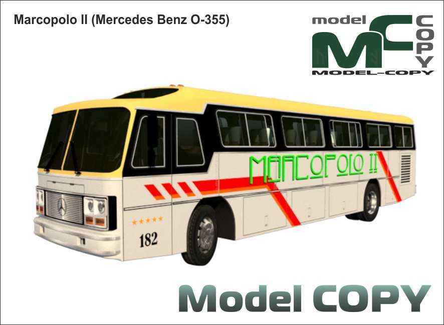 Marcopolo II (Mercedes Benz O-355) - 3D Model