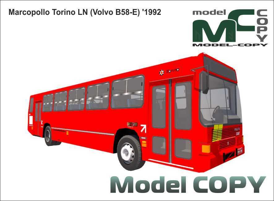 Marcopolo Torino LN (Volvo B58-E) '1992 - 3D Model