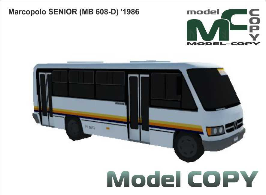 Marcopolo SENIOR (MB 608-D) '1986 - 3D Model