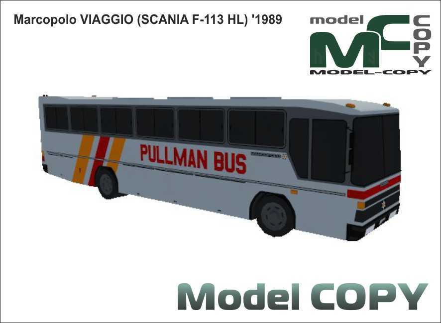 Marcopolo VIAGGIO (SCANIA F-113 HL) '1989 - 3D Model