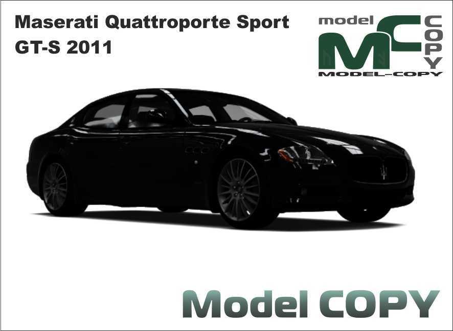 Maserati Quattroporte Sport GT-S 2011 - 3D Model