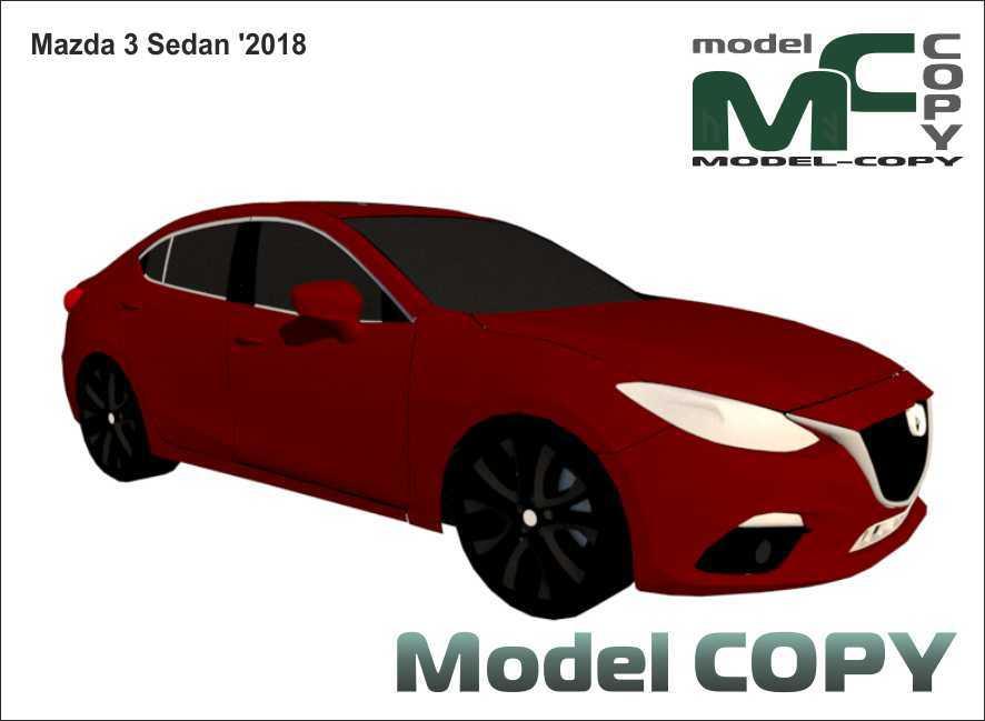 Mazda 3 Sedan '2018 - 3D Model
