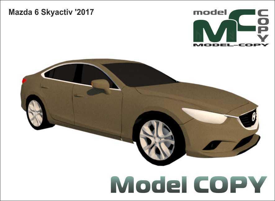 Mazda 6 Skyactiv '2017 - 3D Model
