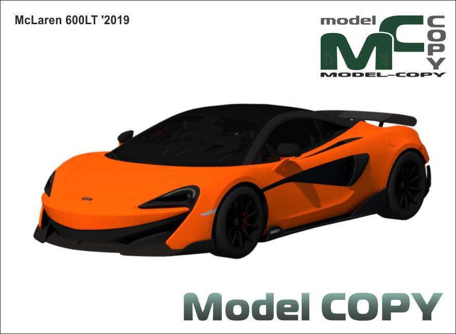 McLaren 600LT '2019 - 3Dモデル