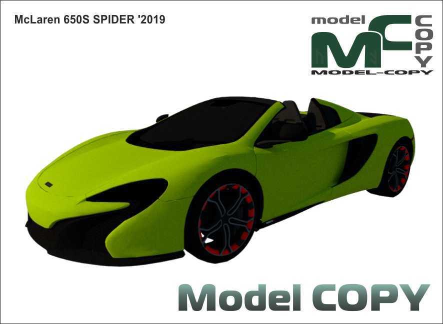 McLaren 650 Spider '2019 - 3Dモデル