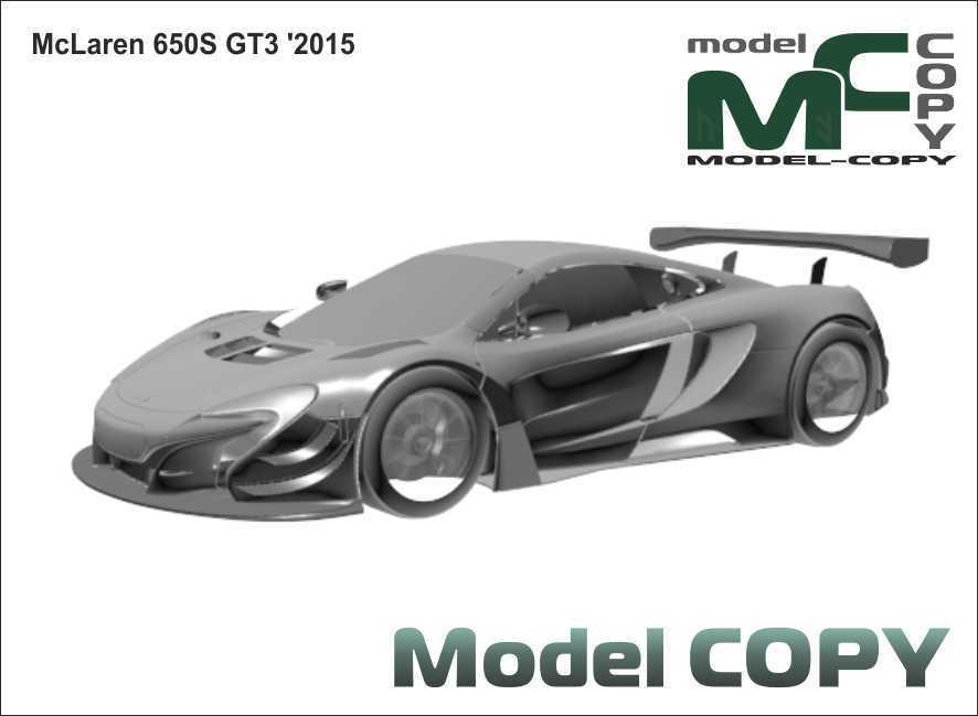 McLaren 650S GT3 '2015 - 3D Model