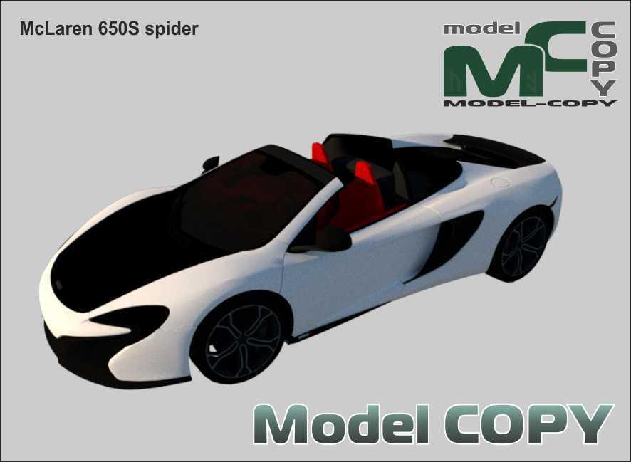 McLaren 650S spider - 3D Model