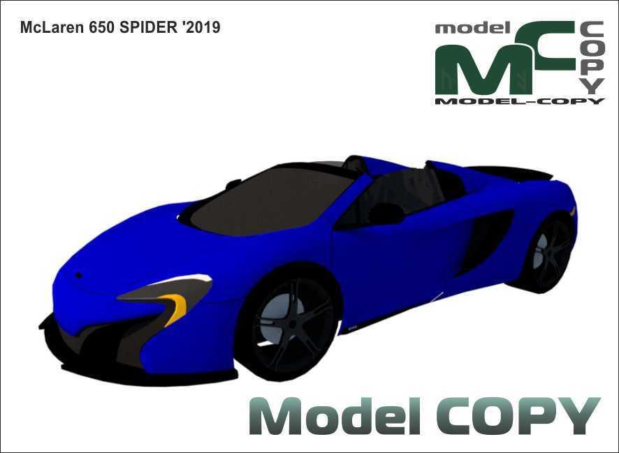 McLaren 650S Spider '2019 - 3Dモデル