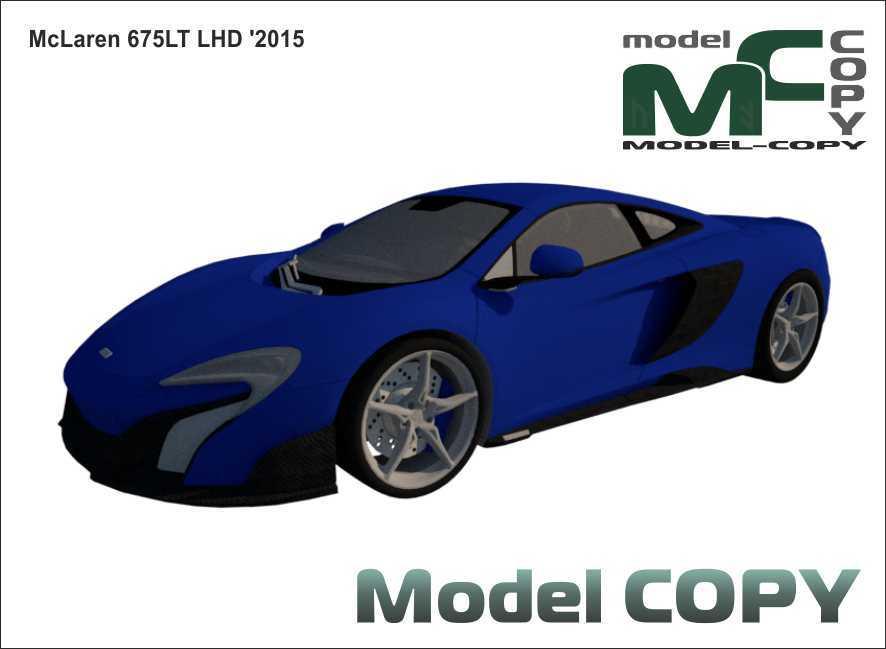 McLaren 675LT LHD '2015 - 3Dモデル