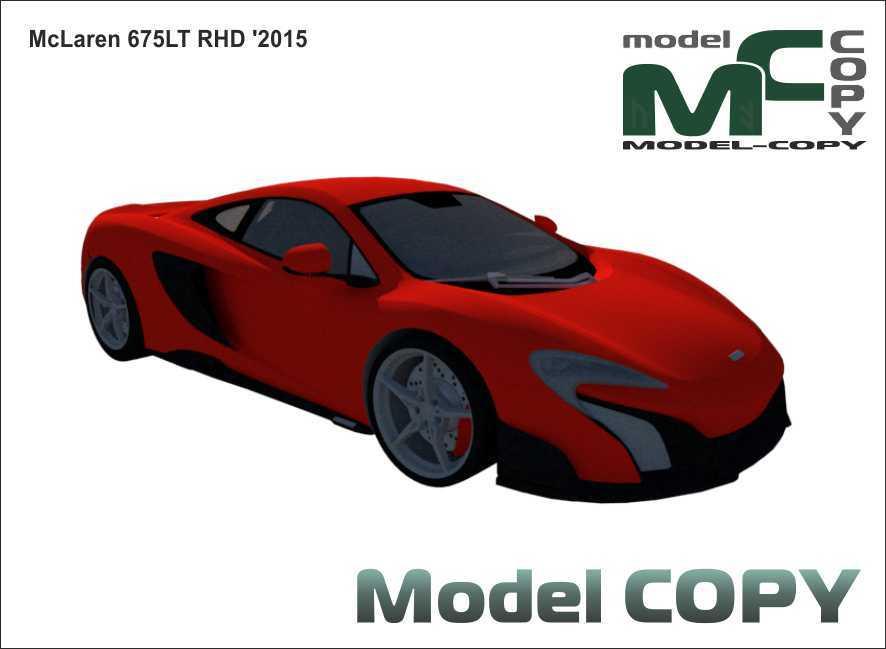 McLaren 675LT RHD '2015 - 3D-модель