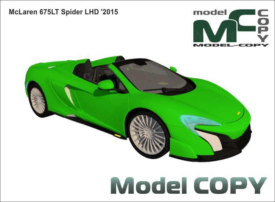 McLaren 675LT Spider LHD '2015 - 3D Model