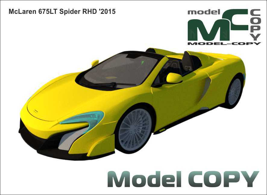 McLaren 675LT Spider RHD '2015 - 3D Model