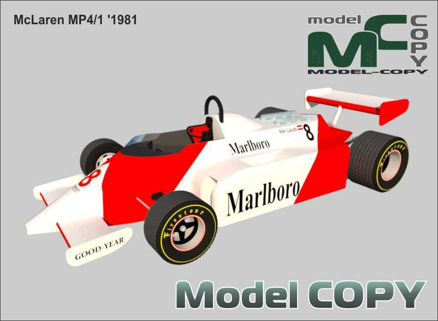 McLaren MP4/1 '1981 - 3D Model