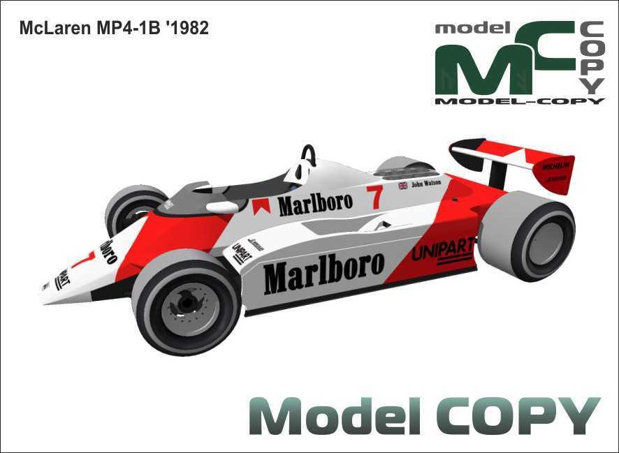 McLaren MP4/1B '1982 - 3D Model