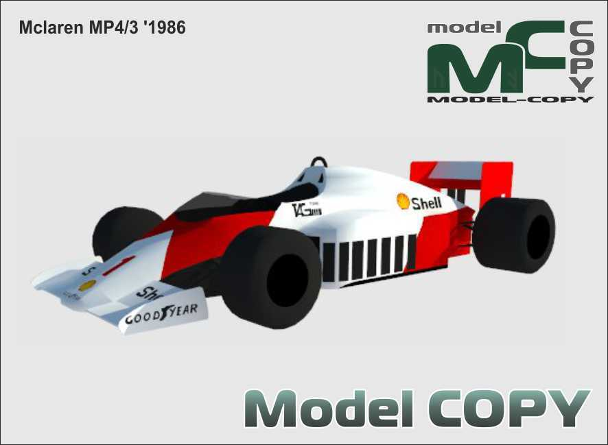 McLaren MP4/3 '1986 - 3D Model