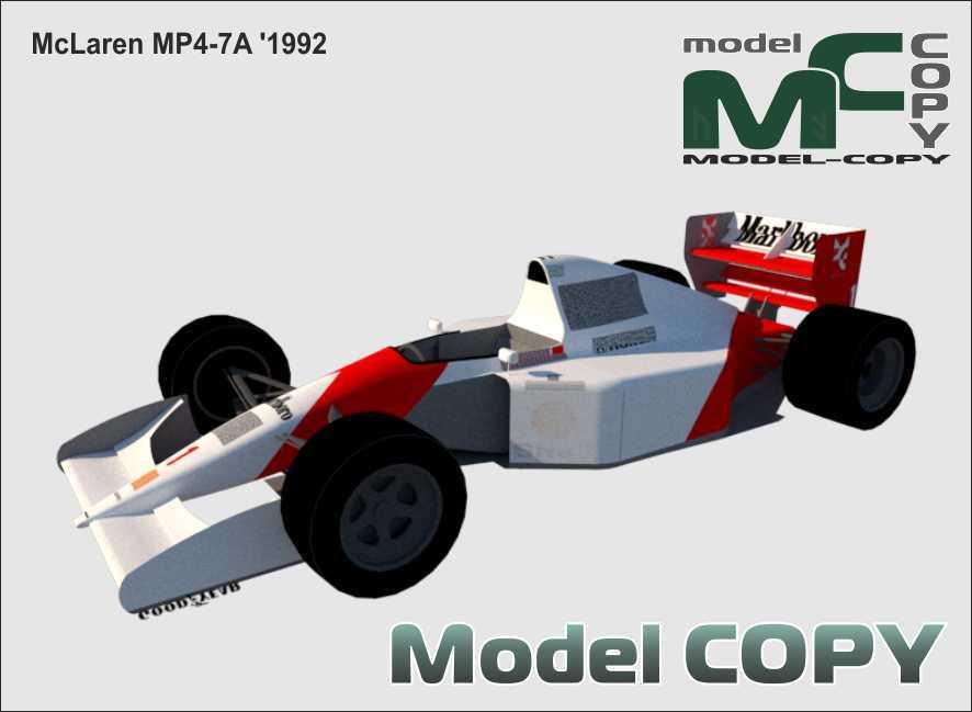 McLaren MP4-7A '1992 - 3D Model