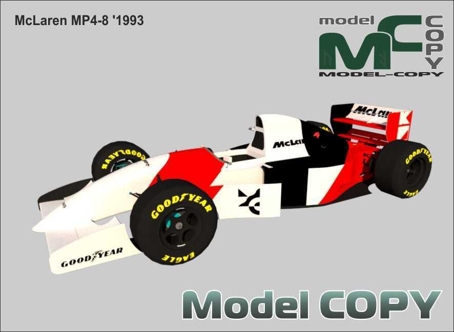 McLaren MP4-8 '1993 - 3D Model