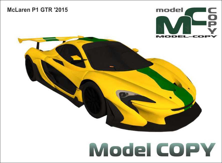 McLaren P1 GTR '2015 - 3Dモデル