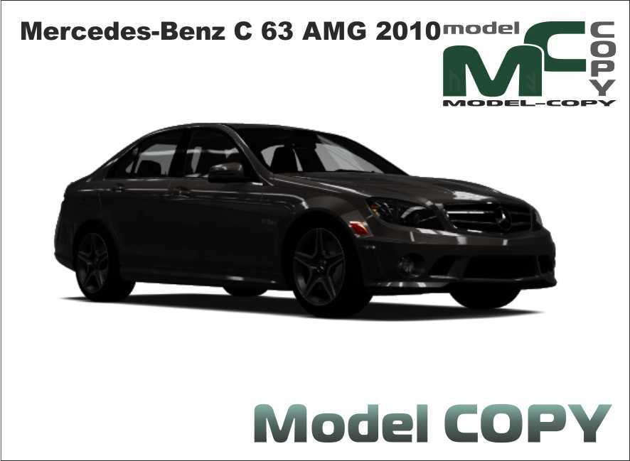 Mercedes-Benz C 63 AMG 2010 - 3D Model