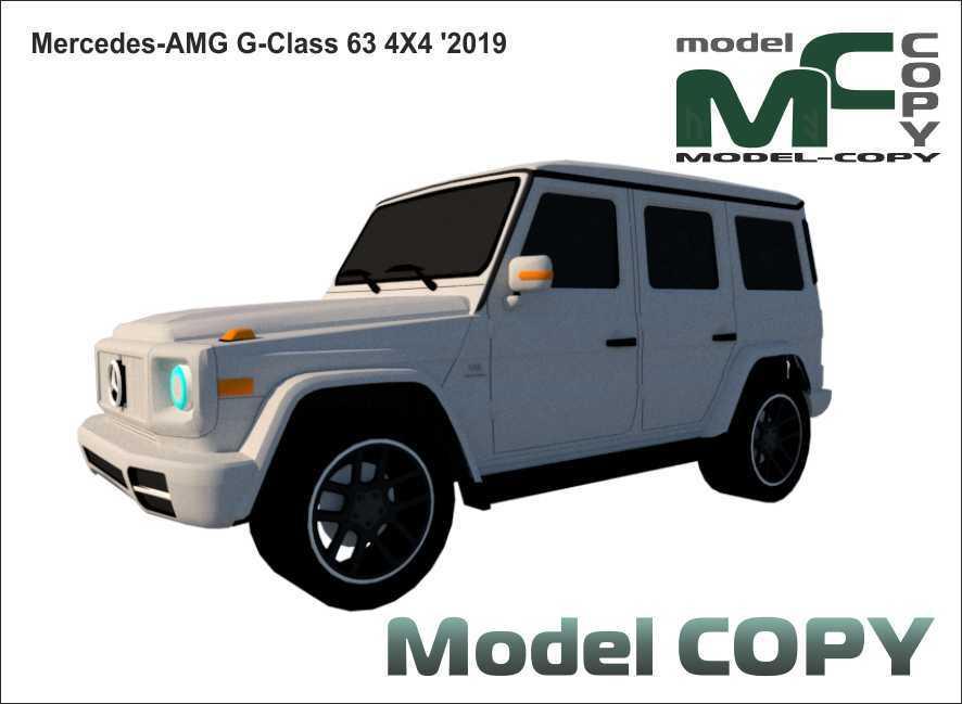 Mercedes-AMG G-Class 63 4X4 '2019 - 3D Model